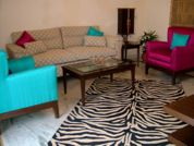 The NRI City complex is extremely secure, & beautifully landscaped. It has 24- hour power back up & security. This  three-bedroom furnished apartment is 0 sq.m and is located . The apartment has 2 bat